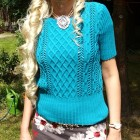Turkusowa bluzeczka