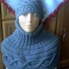 mini poncho i czapka